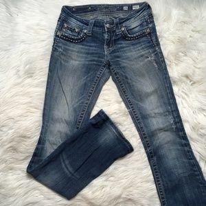 Miss Me Jeans Women Size 25 Medium Wash Bootcut Di
